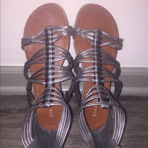Shoes - Sliver gladiator sandals